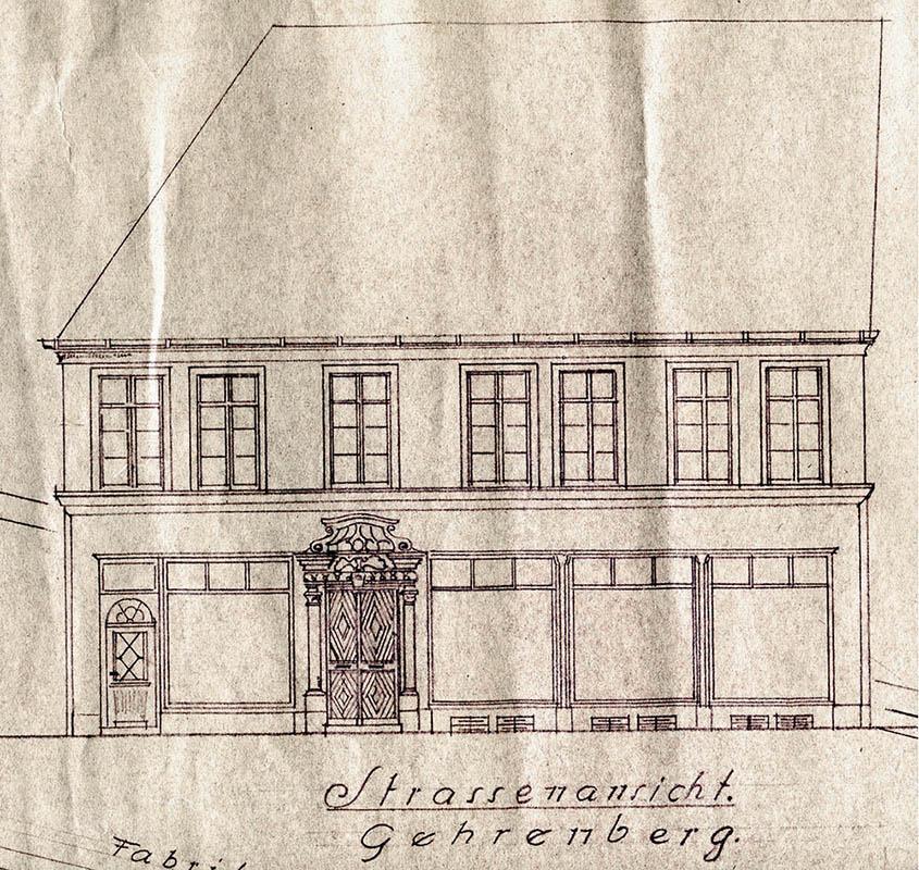 ... Noch Einmal Erweitern Und Das Ganze Haus Unterkellern Ließ. Im Jahr  1900 Wurde Ein 40 Meter Hoher Runder Schornstein Für Die Färberei Erbaut,  ...